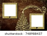 christmas photo frame cards....   Shutterstock . vector #748988437