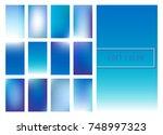 set of soft blue color...