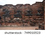 buddha image in the remains of