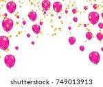 celebration background template ... | Shutterstock .eps vector #749013913