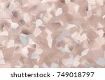 abstract crystal background... | Shutterstock .eps vector #749018797