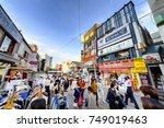 seoul  korea   october 4  2015  ... | Shutterstock . vector #749019463