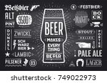 poster or banner with text beer ... | Shutterstock .eps vector #749022973