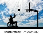 disabled person playing... | Shutterstock . vector #749024887