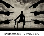 a disabled person with a... | Shutterstock . vector #749026177