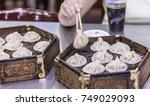 bun halal street food in muslim ... | Shutterstock . vector #749029093