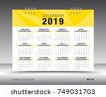 calendar 2019 template layout.... | Shutterstock .eps vector #749031703