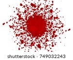 abstract splatter red color... | Shutterstock .eps vector #749032243