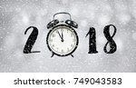 2018 new year countdown concept ... | Shutterstock . vector #749043583