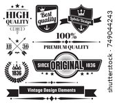 vintage retro vector logo for... | Shutterstock .eps vector #749044243