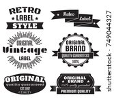 vintage retro vector logo for... | Shutterstock .eps vector #749044327