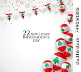 22 november. lebanon happy... | Shutterstock .eps vector #749050303