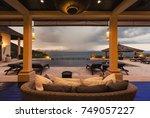 luxury villa living room... | Shutterstock . vector #749057227