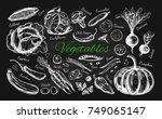 vegetables collection. vector... | Shutterstock .eps vector #749065147