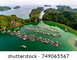 floating fishing village and... | Shutterstock . vector #749065567