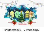 vector house illustrations and... | Shutterstock .eps vector #749065807