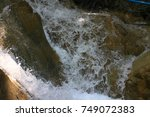 rocks with clear water streams... | Shutterstock . vector #749072383