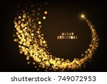 happy new year 2018 gold color... | Shutterstock .eps vector #749072953
