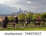 sunset park in brooklyn with... | Shutterstock . vector #749073517