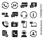 support service vector icon.... | Shutterstock .eps vector #749080747