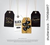 tag sale black friday  glitter... | Shutterstock .eps vector #749086897