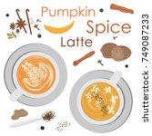 vector illustration for pumpkin ... | Shutterstock .eps vector #749087233