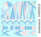geometric pattern with...   Shutterstock .eps vector #749095513