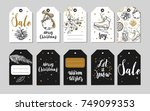 christmas and new year labels ... | Shutterstock .eps vector #749099353