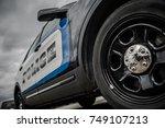 modern american state police... | Shutterstock . vector #749107213