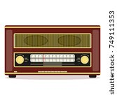 retro radio  retro radio icon....   Shutterstock .eps vector #749111353