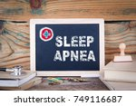 sleep apnea. health care.... | Shutterstock . vector #749116687
