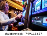 casino slot games play.... | Shutterstock . vector #749118637