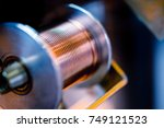coil with thick copper wire ... | Shutterstock . vector #749121523
