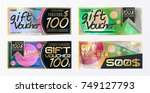 gift voucher template card... | Shutterstock .eps vector #749127793
