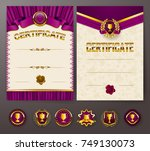 set of elegant templates of... | Shutterstock .eps vector #749130073