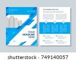 annual report  broshure  flyer  ... | Shutterstock .eps vector #749140057