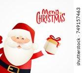 santa claus cartoon character...   Shutterstock .eps vector #749157463