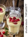 Small photo of Vannila berries pudding fresh homemade delish dessert