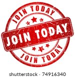 join us today stamp | Shutterstock . vector #74916340