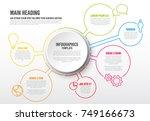 vector infographic report... | Shutterstock .eps vector #749166673
