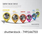 vector infographic company... | Shutterstock .eps vector #749166703
