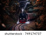 Steam Locomotive Drives Throug...