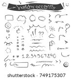 creative sketchy accents and... | Shutterstock .eps vector #749175307