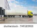 cargo truck at warehouse