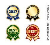 ribbons award best price label... | Shutterstock .eps vector #749189017