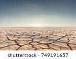 soil drought cracked landscape... | Shutterstock . vector #749191657