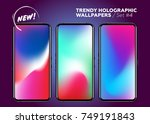 vector multicolor holographic... | Shutterstock .eps vector #749191843