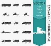 truck icons | Shutterstock .eps vector #749194213