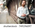 bearded man   Shutterstock . vector #749196097