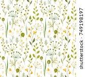 flower watercolor pattern ...   Shutterstock . vector #749198197